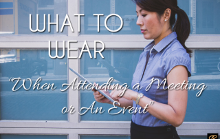 What to Wear to A Meeting