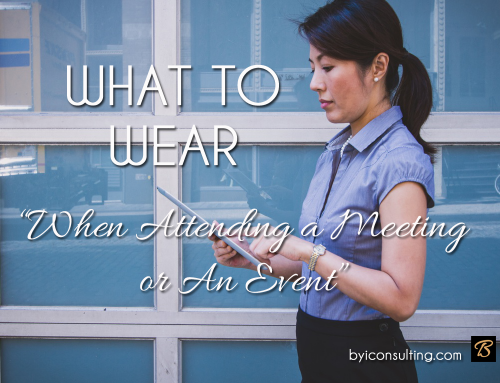 WONDERING WHAT TO WEAR WHEN ATTENDING OR MODERATING A MEETING?