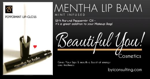 Beautiful You Cosmetics Peppermint Lip gloss